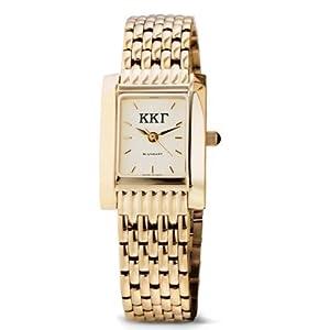Buy Kappa Kappa Gamma Ladies Gold Quad Watch with Bracelet by M.LaHart & Co.