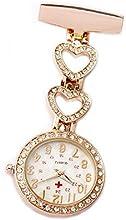 Shining Reloj de mujer corazón con cristal llavero Enfermera Médico Paramédico Túnica broche bolsillo Relojes
