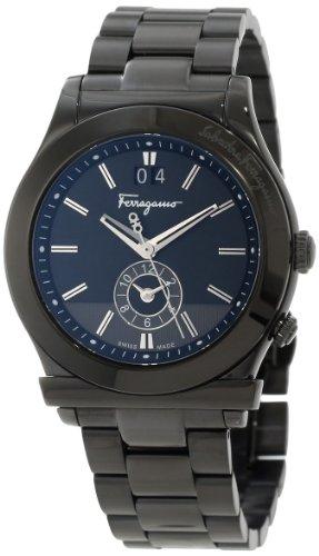 Ferragamo Men's F62LDT6809 S110 1898 Black IP Coated Stainless-Steel Date Watch