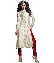 BK ENTERPRISE Women's White Cotton Sherwani(bk-6_freesize)