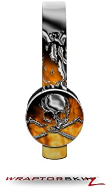 buy Chrome Skull On Fire Decal Style Skin (Fits Sol Republic Tracks Headphones - Headphones Not Included)