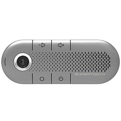 Supertooth Crystal Silver Hands-Free Wireless Bluetooth Visor Car Kit Speakerphone - Retail Packaging
