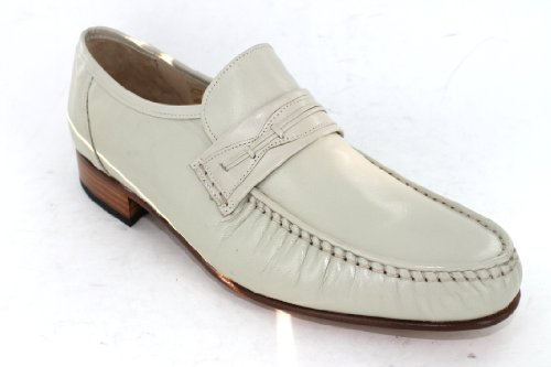 Mens Grenson Ivory Kid Leather Slip On Formal Shoes, Style - 9648/78
