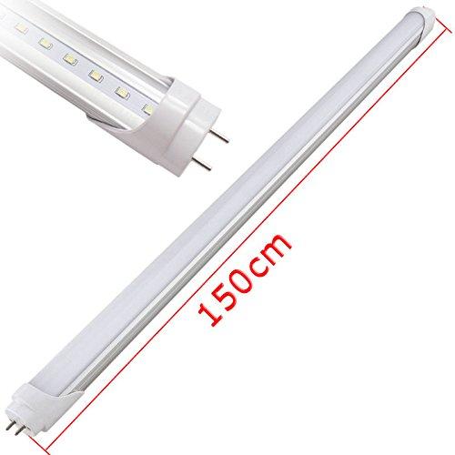 Wyzm(Tm) 10Pcs Brightest 22W 150Cm 5Ft T8 Led Tube Light Lamp 6000K Cold White 85V~250V