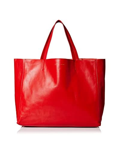 Céline Women's Leather Tote, Red