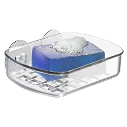 InterDesign Suction Soap Dish, Clear