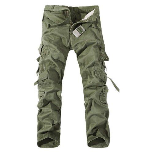 sodial r casuel pantalon cargo militaire multi poches pour hommes chic pantalons shorts. Black Bedroom Furniture Sets. Home Design Ideas