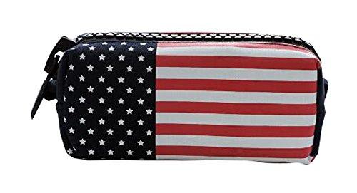 Kosmetische-Beutel-kreative-nette-amerikanische-Flagge-Schler-Feder-Kasten