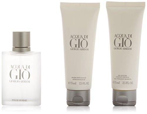 Armani Acqua di Gio Set Regalo Eau de Toilette, Uomo - 50 ml, Gel Doccia - 75 ml, Lozione Dopobarba - 75 ml