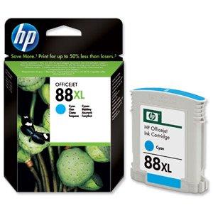 Hewlett Packard [HP] No. 88XL Inkjet Cartridge Page Life 1200pp Cyan Ref C9391AE