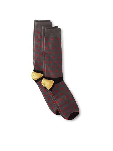 Florsheim by Duckie Brown Men's Polka Dot Socks, 2-pack