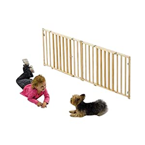 """Midwest Expandable Pet Dog Puppy Extra Wide Extra Wide Wood Gate 53"""" - 96"""" x 24"""""""