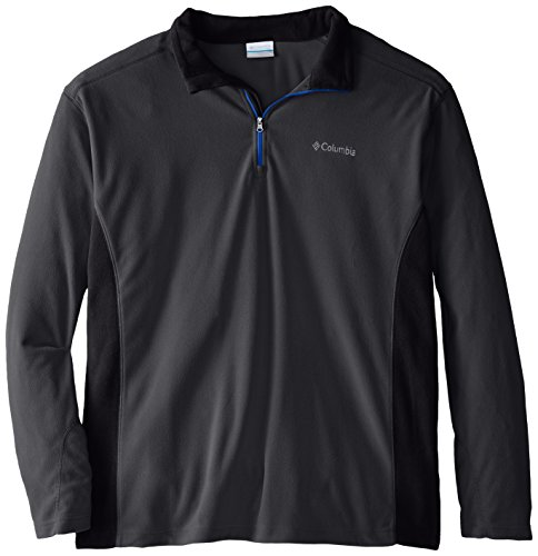 Columbia Men's Big Klamath Range II Half Zip, Grill/Black, 3X