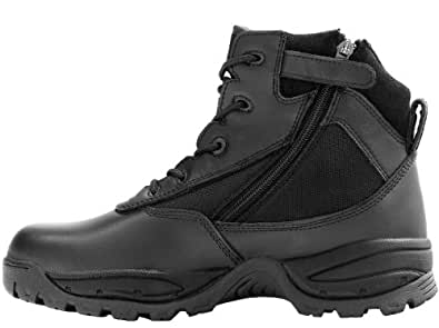 Maelstrom(R) PATROL 6'' Black Waterproof Tactical Duty Work Boots with Zipper - P1360Z WP Size 4 Medium