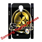 Dual-Protective Polymer Samsung Galaxy S4/S IV/SIV 3D hardshell back cases with NFL Pittsburgh Steelers team background-fits for Samsung Galaxy S4 C Spire SCH-R970X/ Verizon SCH-I545/ Metro PCS SGH-M919N/AT&T SGH-I337/ T-Mobile SGH-M919/ U.S. Cellular SCH-R970/ Sprint SPH-L720/ Cricket SCH-R970C