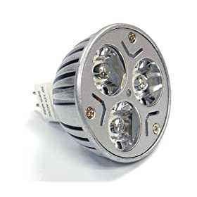 LEDWholesalers MR16 3x1 Watt LED Spot Light Bulb 20W, warm white, 1230WW