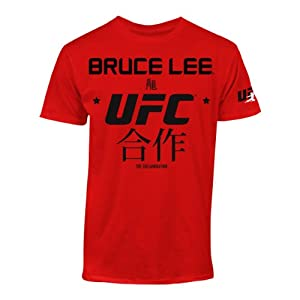 UFC Men's Bruce Lee Translation Tee, Red, X-Large