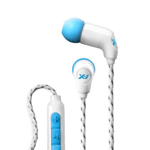 X-1 (Powered By H2O Audio) Mm-Ie1-Cn Women'S Momentum In-Ear Ultra Light Sweat Proof Headphones (Cyan)