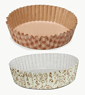Welcome Home Brands Ruffled Baking Cups, Brown Blossom, Set of 30