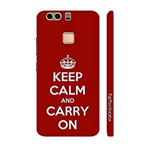 Enthopia Designer Hardshell Case KEEP CALM AND CARRY ON Back Cover for Huawei P9 Plus