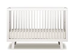 Oeuf Sparrow Crib, White
