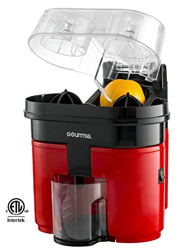 Gourmia GCJ-200 Ultimate Slice & Squeeze Electric Dual Power Fruit Citrus Juicer Extractor, Red (Power Juicer Red compare prices)