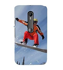 Ice Board Skating 3D Hard Polycarbonate Designer Back Case Cover for Moto G Turbo Edition :: Moto G Turbo (Virat Kohli Edition)