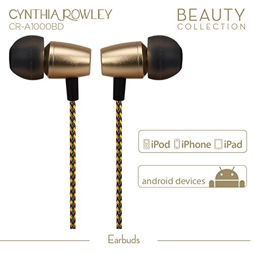 Cynthia-Rowley-In-Ear-Headphones-Noise-Isolating-Earbuds-with-In-Line-Mic