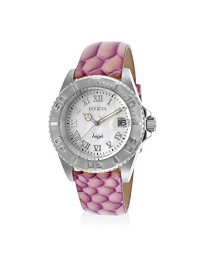 Invicta Women's 18417 Angel Violet/White Mother-of-Pearl Leather Watch