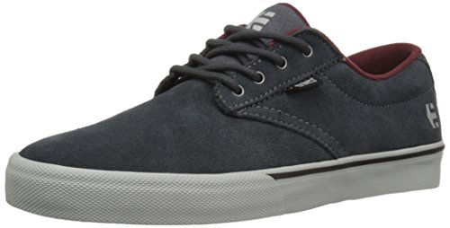 Etnies Men's Jameson Vulc Skateboarding Shoe, Dark Grey/Grey/Red, 9 M US