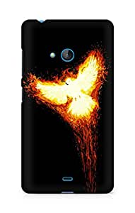 Amez designer printed 3d premium high quality back case cover for Microsoft Lumia 540 (Rise phoenix myth fire bird phoenix)