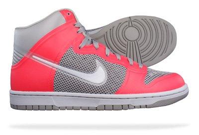Nike Dunk High Hyperfuse, Medium Grey/Neutral Grey/Solar Red