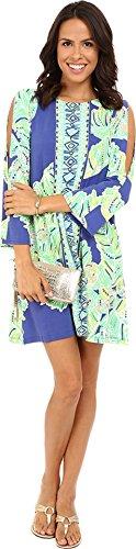 Lilly Pulitzer Women's Ophelia Dress Iris Blue Latitude Adjustment Dress MD