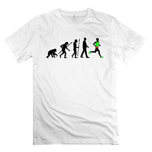 White Evolution Running Roundneck Shirt For Adult