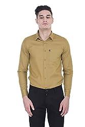 London Looks Men's Formal Shirt (LLS-OLIVEGREEN-M_Olive Green_Medium)