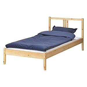 ikea twin bed frame solid wood with headboard single bed ikea. Black Bedroom Furniture Sets. Home Design Ideas