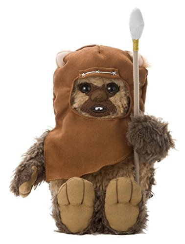Japan Disney Official Star Wars the Force Awakens - Ewok Wicket Warrick Brown Mascot Soft Plush Stuffed Toy Cushion Kids Doll Bean Bag Plushie House Table Decor Accessory Takara Tomy Arts