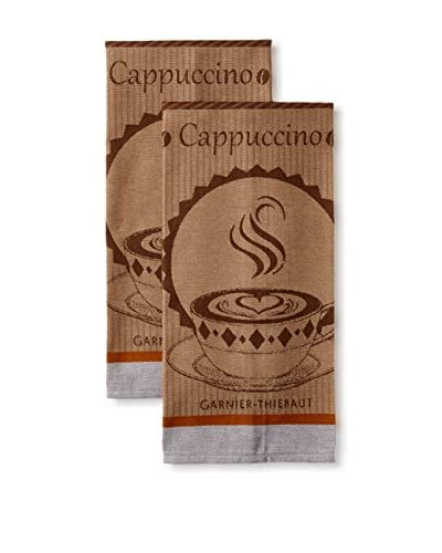 Garnier-Thiebaut Set of 2 Tasses de Café Kitchen Towels, Moka