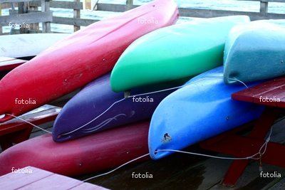 """Wallmonkeys Peel and Stick Wall Decals - Colorful Canoes - 72""""W x 48""""H Removable Graphic"""