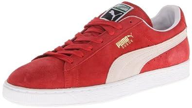 PUMA Suede Classic Sneaker,High Risk Red/White,4 M US Men's