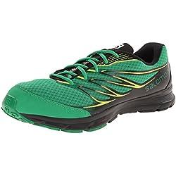 Salomon Sense Link Mens Road-Running Shoes - Fern Green/Black/Gecko Green
