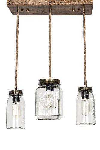 Fos Lighting Mason Jar Trio Chandelier