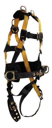 Falltech 70343X Journeyman Full Body Harness With 6-Inch Belt With 5 D-Rings, Triple Extra Large front-85780