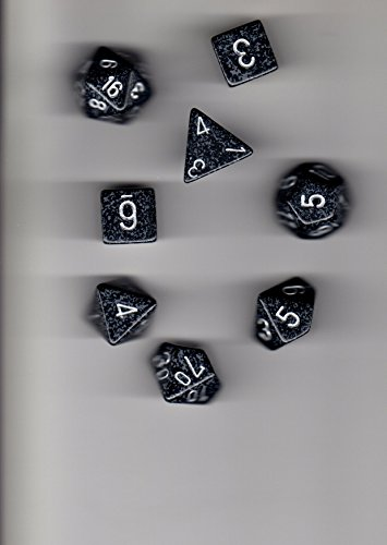 Chessex Manufacturing 25318 Ninja Speckled Polyhedral Dice Set Of 7 - 1