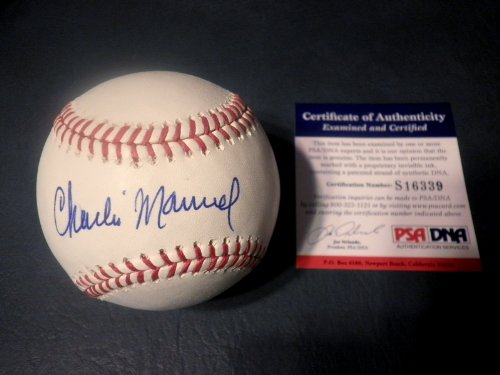 CHARLIE MANUEL Signed OML Baseball PSA Phillies Autographed Ball at Amazon.com