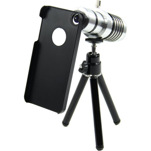 Estone 14X Optical Zoom Camera Aluminum Tripod Cover Telescope Lens For Iphone5 New