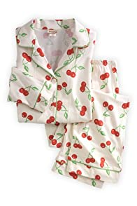 BedHead Cherry Classic Stretch USA made Pajama Set