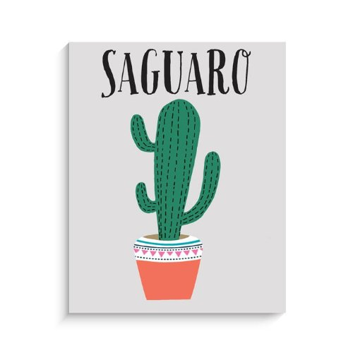 "Lucy Darling Saguaro Cactus Print Wall Decor, 11"" x 14"""