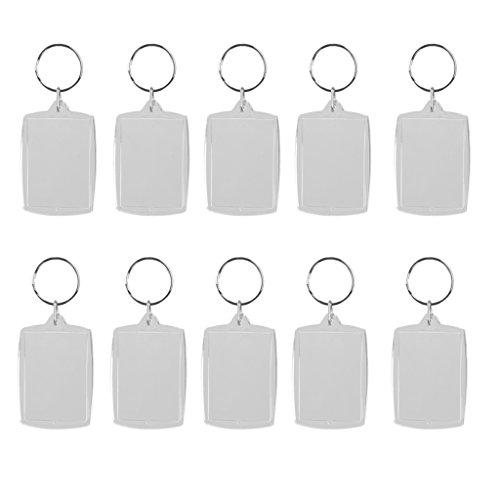 10pcs-llavero-de-anillo-marco-de-foto-rectangulo-movible-acrilico-metal-blanco-4x56cm