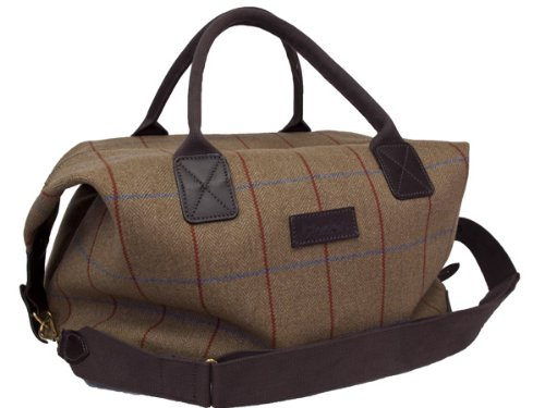 Bladen-Original-Mens-Tweed-Supasax-Wool-Cloth-Luggage-Holdall-Bag-18-Inch-Limited-Edition